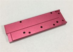 Custom High Precision CNC Turning Milling Processing Red Anodized Aluminum Parts