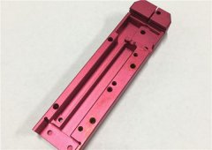 Anodized Aluminum Red Camera Fitting Part,Sandblasting Phone Case Fitting