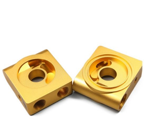 Aluminum Parts with CNC Process Gold Anodize